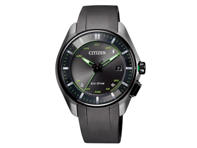 大坂なおみ選手が試合で着用しているシチズン(CITIZEN)の時計「エコ・ドライブ Bluetooth」黄緑色