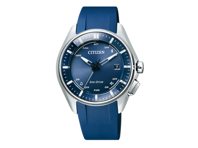 大坂なおみ選手が試合で着用しているシチズン(CITIZEN)の時計「エコ・ドライブ Bluetooth」青色